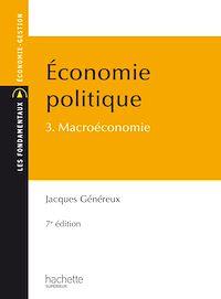 Télécharger le livre : Économie politique - Tome 3 - Macroéconomie