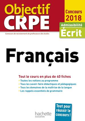 Téléchargez le livre :  Objectif CRPE En Fiches Français - 2018