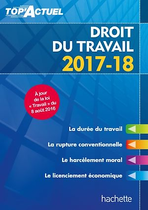 Téléchargez le livre :  Top'Actuel Droit Du Travail 2017-2018