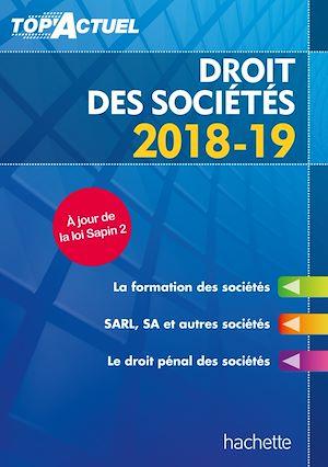 Téléchargez le livre :  Top'Actuel Droit Des Sociétés 2018-2019