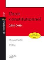 Télécharger le livre :  Les Fondamentaux - Droit Constitutionnel 2018 -2019