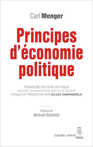 Téléchargez le livre :  Principes d'économie politique. Première édition critique incluant les annotations inédites de l'aut