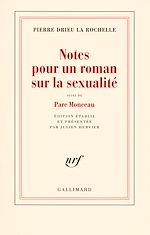 Télécharger le livre :  Notes pour un roman sur la sexualité / Parc Monceau