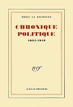 Télécharger le livre :  Chronique politique (1934-1942)