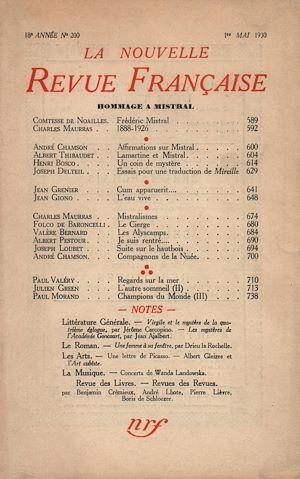 Téléchargez le livre :  Hommage r Mistral N' 200 (Mai 1930)