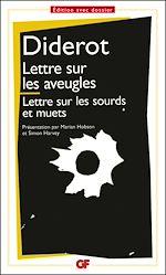 Télécharger le livre :  Lettre sur les aveugles à l'usage de ceux qui voient - Lettre sur les sourds et muets à l'usage de ceux qui entendent et qui parlent