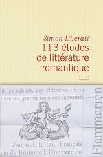 Télécharger le livre :  113 études de littérature romantique