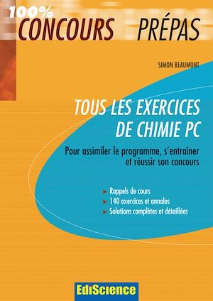 Téléchargez le livre :  Tous les exercices de Chimie PC