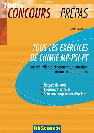 Téléchargez le livre :  Tous les exercices de Chimie MP-PSI-PT