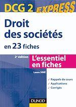 Télécharger le livre :  Droit des sociétés - DCG 2 - 2ème édition