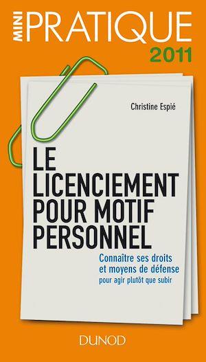 Téléchargez le livre :  Le licenciement pour motif personnel - Connaître ses droits et moyens de défense