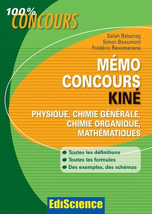 Téléchargez le livre :  Mémo Concours Kiné