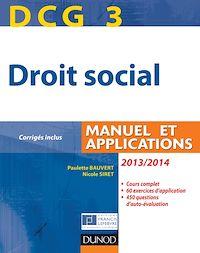 DCG 3 - Droit social 2013/2014 - 7e édition