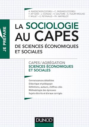 Téléchargez le livre :  La sociologie au Capes de Sciences économiques et sociales