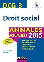 Télécharger le livre :  DCG 3 - Droit social 2015