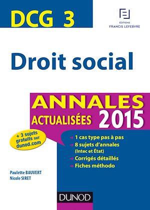 Téléchargez le livre :  DCG 3 - Droit social 2015