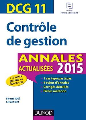 Téléchargez le livre :  DCG 11 - Contrôle de gestion