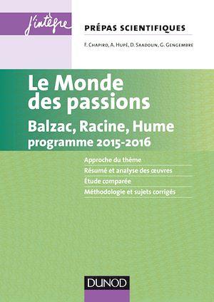 Téléchargez le livre :  Le monde des passions prépas scientifiques programme 2015-2016