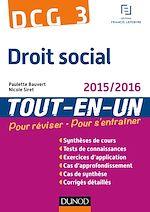 Télécharger le livre :  DCG 3 - Droit social 2015/2016 - 8e éd.