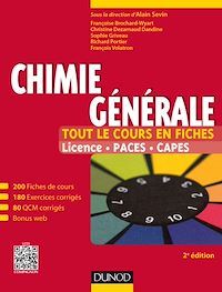 Chimie générale - Tout le cours en fiches - 2e édition