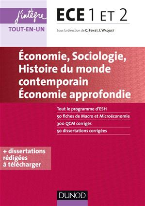 Téléchargez le livre :  ECE 1 ET 2 - Economie, Sociologie, Histoire du monde contemporain