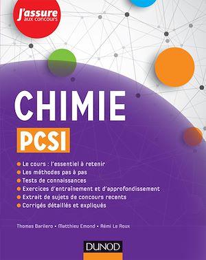 Téléchargez le livre :  Chimie PCSI