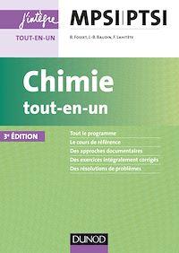 Chimie tout-en-un MPSI-PTSI - 3e éd.