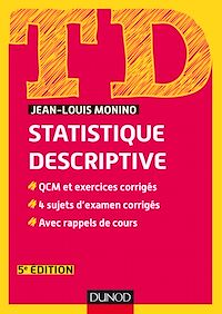 Télécharger le livre : TD de statistique descriptive - 5e éd.