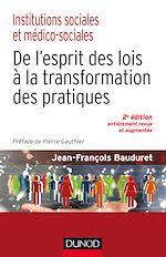 Télécharger le livre :  Institutions sociales et médico-sociales-2e éd.