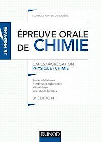L'épreuve orale de chimie - 3e éd.