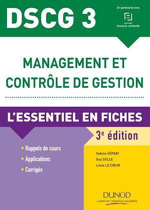 Téléchargez le livre :  DSCG 3 Management et contrôle de gestion - 3e éd.