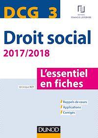 DCG 3 - Droit social 2017/2018 - 8e éd.