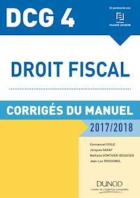 DCG 4 - Droit fiscal 2017/2018 - 11e éd.