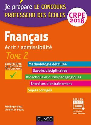Téléchargez le livre :  Français - Professeur des écoles - Ecrit / admissibilité - CRPE 2018