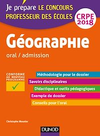 Géographie - Professeur des écoles - oral / admission - CRPE 2018