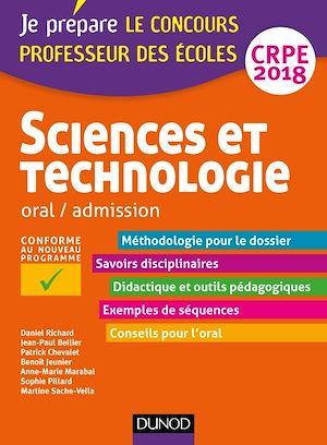 Téléchargez le livre :  Sciences et technologie - Professeur des écoles - Oral, admission - CRPE 2018