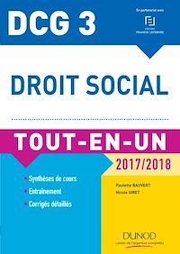 DCG 3 - Droit social 2017/2018 - 10e éd.