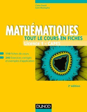 Téléchargez le livre :  Mathématiques - Tout le cours en fiches - Licence 1 - Capes - 2e éd