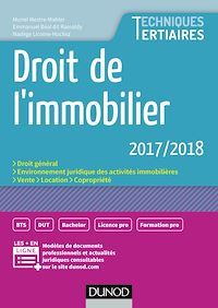 Télécharger le livre : Droit de l'immobilier 2017/2018