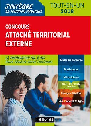 Téléchargez le livre :  Concours Attaché territorial externe - 2018