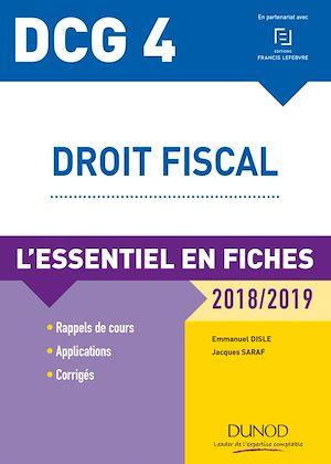 Téléchargez le livre :  DCG 4 - Droit fiscal - 2018/2019