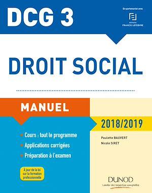 Téléchargez le livre :  DCG 3 - Droit social Manuel 2018/2019