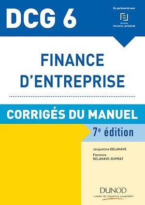 Téléchargez le livre :  DCG 6 - Finance d'entreprise - 7e éd. - Corrigés du manuel