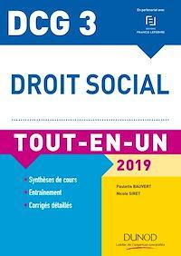 DCG 3 - Droit social 2019 - 11e éd.