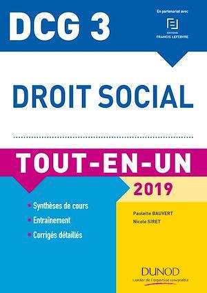 Téléchargez le livre :  DCG 3 - Droit social 2019 - 11e éd.