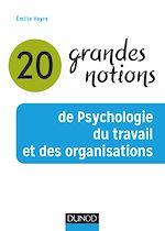Télécharger le livre :  20 grandes notions de psychologie du travail et des organisations