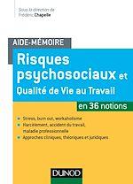 Télécharger le livre :  Aide-mémoire - Risques psychosociaux et qualité de vie au travail