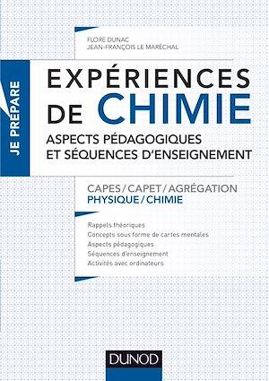 Téléchargez le livre :  Expériences de chimie - Aspects pédagogiques et séquences d'enseignement - Capes/Agrégation
