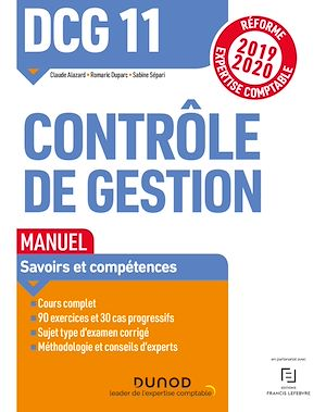 Téléchargez le livre :  DCG 11 Contrôle de gestion - Manuel