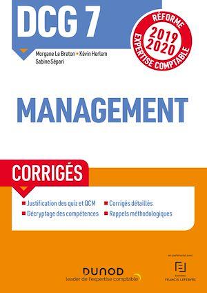 Téléchargez le livre :  DCG 7 Management - Corrigés